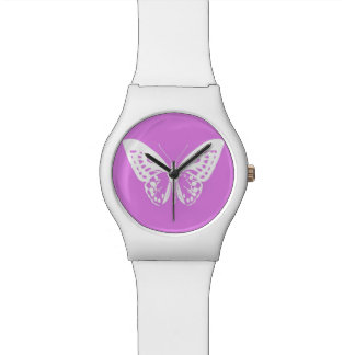 Butterfly sketch, orchid and white watch