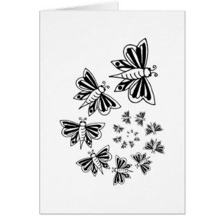 butterfly spiral card