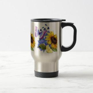 Butterfly Sunflower Garden Coffee Mug