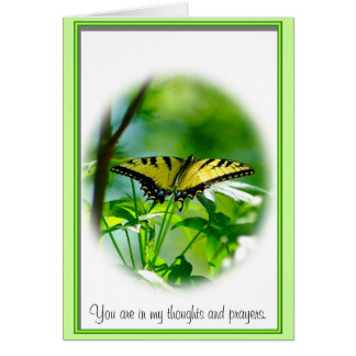 Butterfly Sympathy Note Card