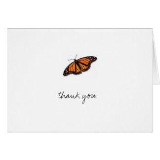 butterfly, thank you note card