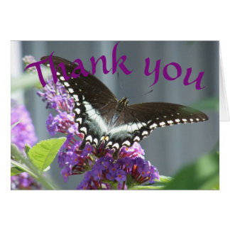 Butterfly Thank you card