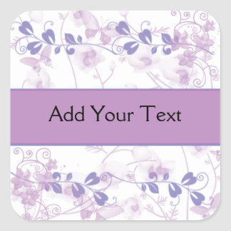 Butterfly Vision in Lilac Purple Square Sticker