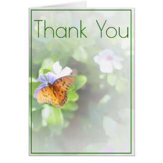 Butterfly Wedding Note Card