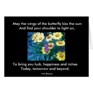 Butterfly Wishes Note Card