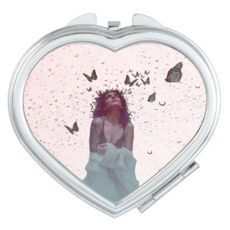 Butterfly Woman Mirror For Makeup