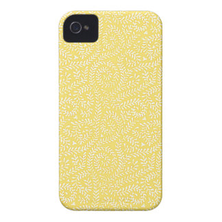 Butterleaf Yellow Pattern iPhone 4 Case