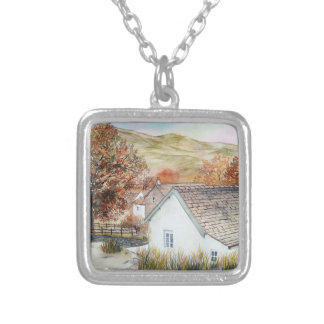 Buttermere Village, Lake District, England Silver Plated Necklace