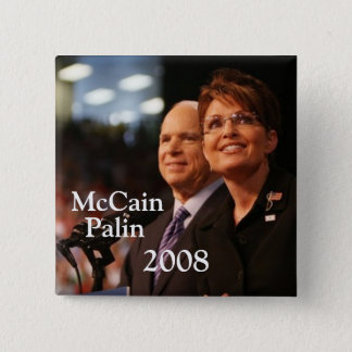 button6, McCain, Palin, 2008 - Customized 15 Cm Square Badge