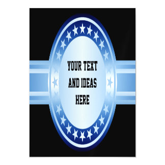 Button / Banner - Stars blue white + your backgr Magnetic Invitations