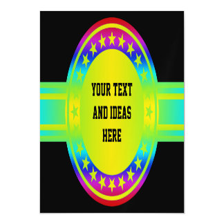 Button / Banner - Stars neon colored + your backgr Magnetic Invitations