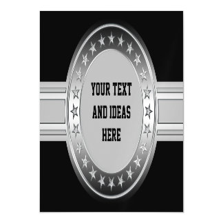 Button / Banner - Stars silver + your backgr Magnetic Invitations