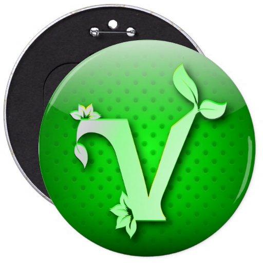 Button icon green GO VEGAN