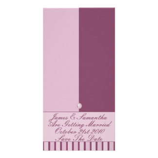 Button Up Purple Stripes Photo Card
