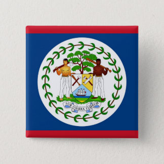 Button with Flag of Belize