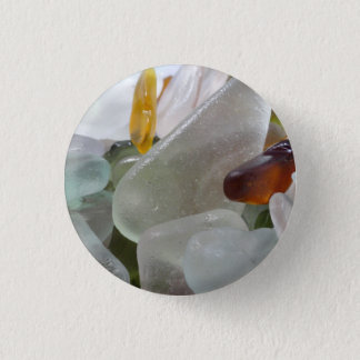 Button with Sea Glass