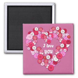 Buttonised heart magnet
