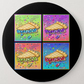 Buttons, Pins - Pop Art Piece of Pie