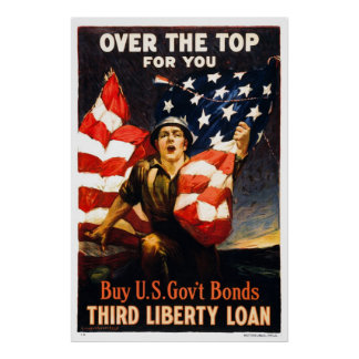 Buy U.S. War Bonds, Over the top, Large Poster