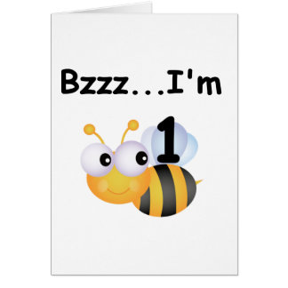 Buzz Bumblebee 1st Birthday T-shirts and Gifts Card