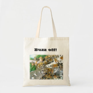 Buzz off! tote bags