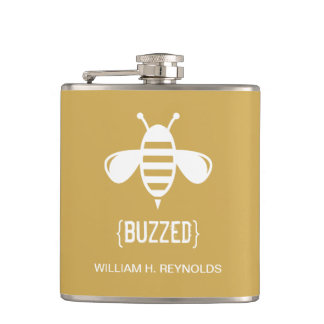 {BUZZED} Bridal Party Buzzed Bee Gift (gold) Flasks