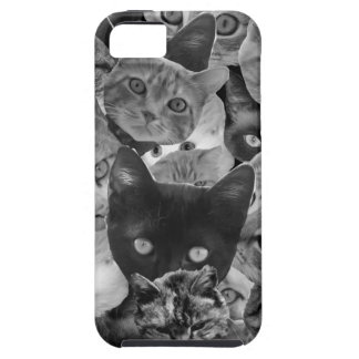BW Cat Collage iPhone 5 Case