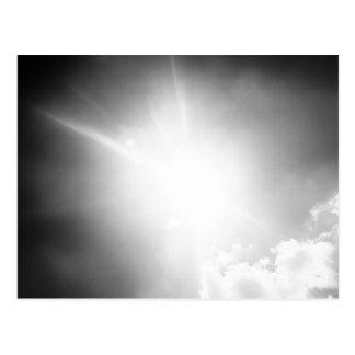 BW sun Postcard
