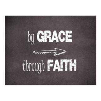 By Grace Through Faith Bible Verse Postcard