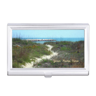 By the Sea Personalized Business Card Holder