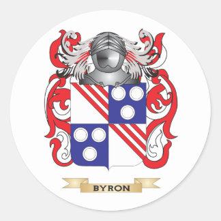 Byron-(Ayton) Coat of Arms (Family Crest) Round Sticker