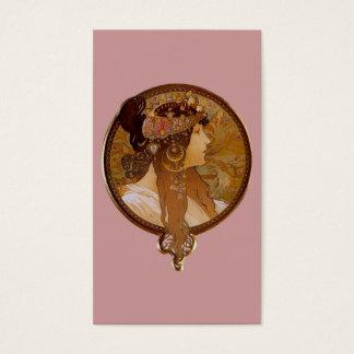 Byzantine Brunette, Mucha Business Card