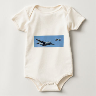 C130 HERCULES AND A10 WARTHOG IN FORMATION BABY BODYSUIT