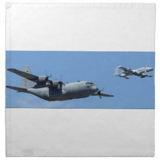 C130 HERCULES AND A10 WARTHOG IN FORMATION NAPKIN
