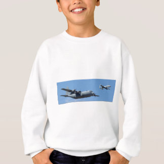 C130 HERCULES AND A10 WARTHOG IN FORMATION SWEATSHIRT