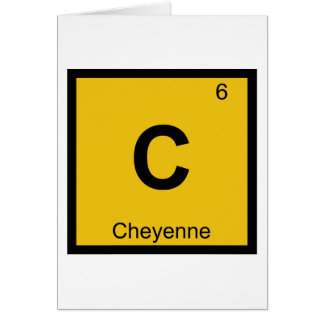 C - Cheyenne Wyoming Chemistry Periodic Table Card