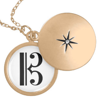 C-Clef Gold Plated Necklace