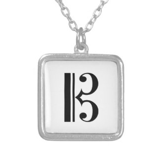 C-Clef Silver Plated Necklace