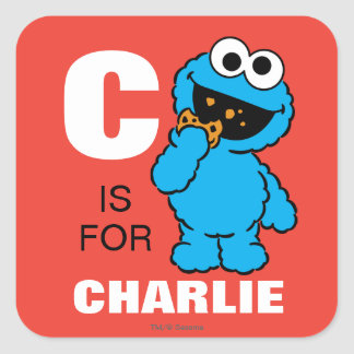 C is for Cookie Monster | Add Your Name Square Sticker