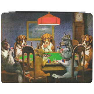 C.M. Coolidge Dogs Playing Poker iPad Cover