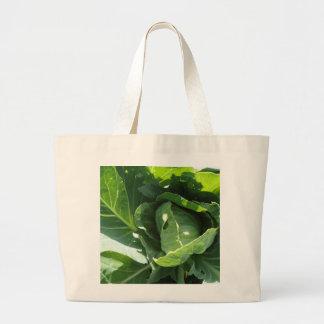 Cabbage canvas tote