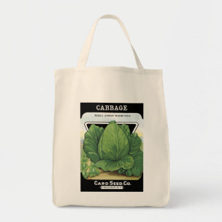 Cabbage Card Seed Co. packet Vintage Fredonia, NY Tote Bag