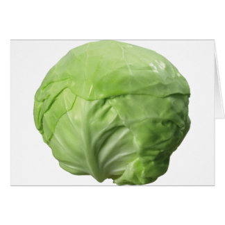 Cabbage Card, Standard white envelopes included Greeting Card
