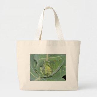 Cabbage Leaves Large Tote Bag