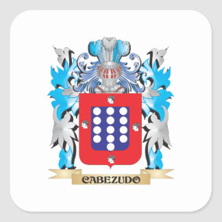 Cabezudo Coat of Arms - Family Crest Square Sticker