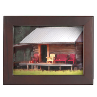Cabin Adirondacks Keepsake Box