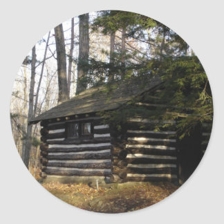 Cabin at the Pa Grand Canyon -Leonard Harrison Pk Classic Round Sticker