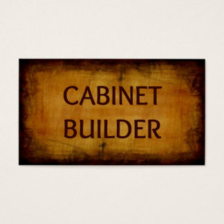 Cabinet Builder Business Card