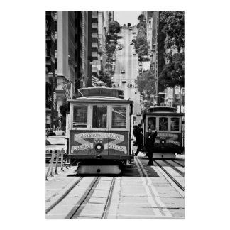 CABLE CAR IN SAN FRANCISCO POSTERS