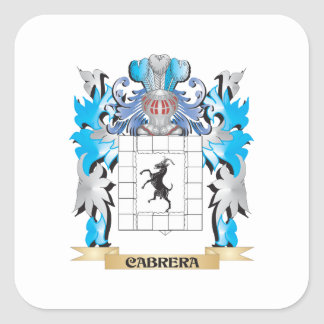 Cabrera Coat of Arms - Family Crest Stickers